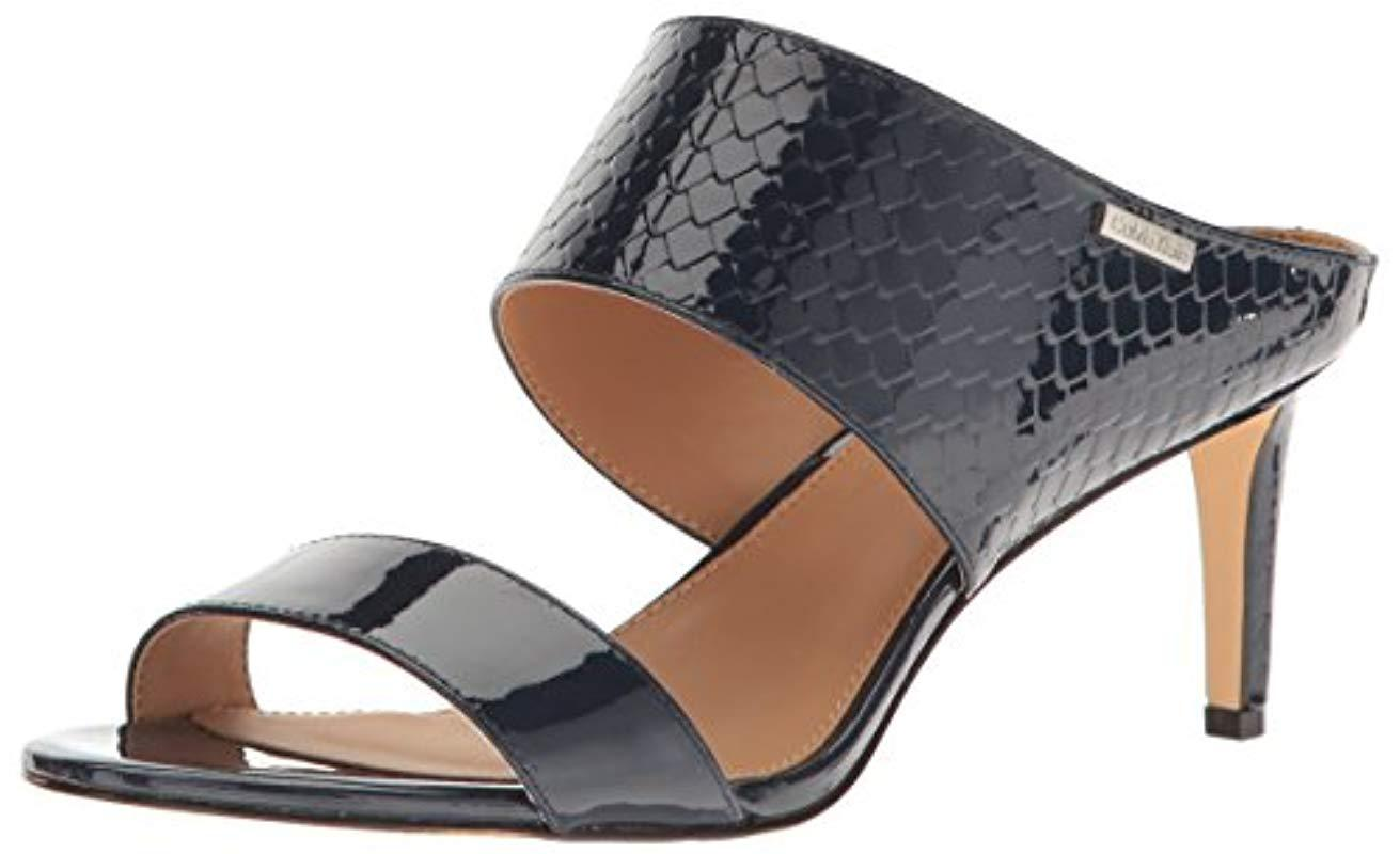 87d6f18432f1 Lyst - Calvin Klein Cecily Dress Sandal in Blue - Save ...