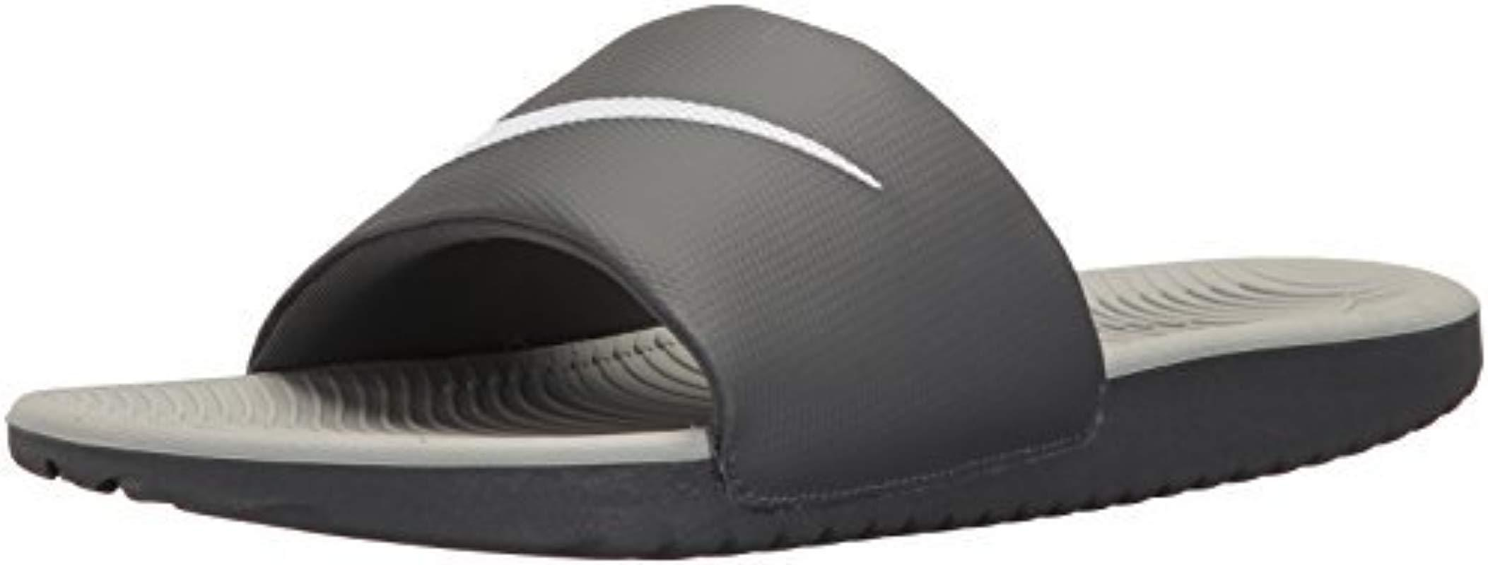 f975c2f267b Lyst - Nike Kawa Slide Athletic Sandal in Gray for Men - Save 20%