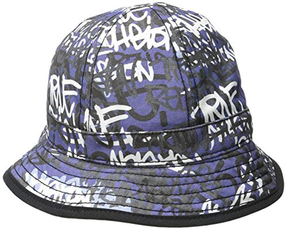 True Religion - Blue Graffiti Print Bucket Hat for Men - Lyst. View  fullscreen 0124ceb618ae