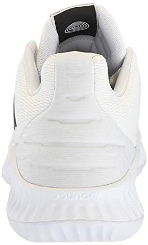 50bbdb60370 Adidas Originals - White Pro Bounce 2018 Low Basketball Shoe for Men - Lyst.  View fullscreen