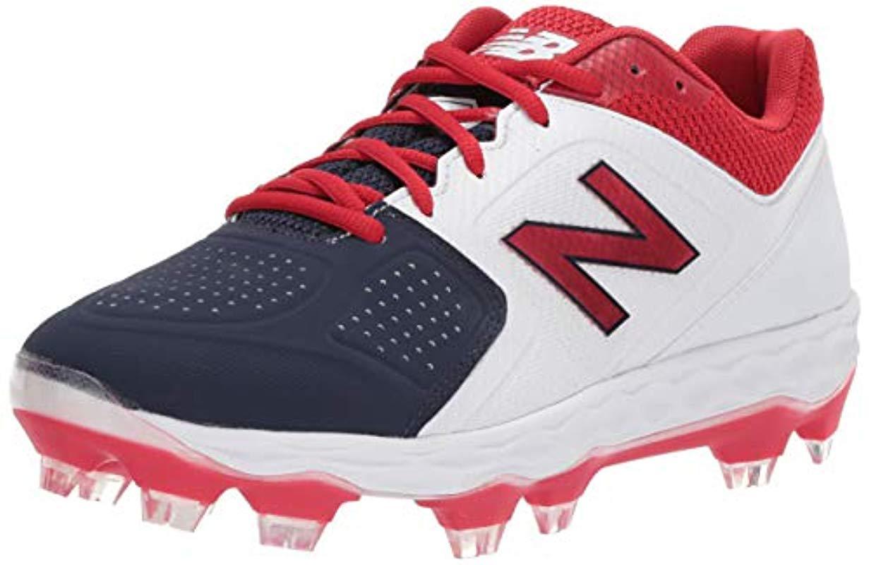 Velo V1 Molded Baseball Shoe, Red