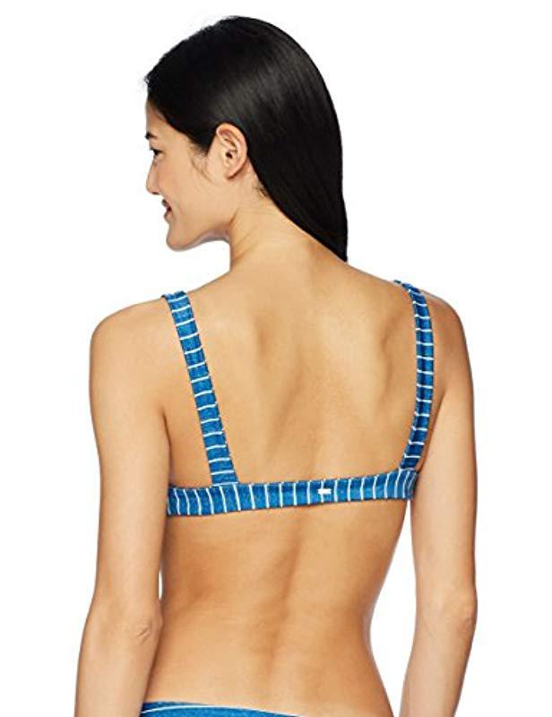 6523c72ff8142 Lyst - Rip Curl Premium Surf Halter Bikini Top in Blue - Save 44%
