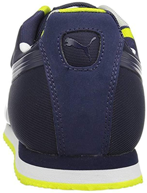 Lyst - PUMA Roma Basic Geometric Camo Fashion Sneaker in Blue for Men 4fa996098