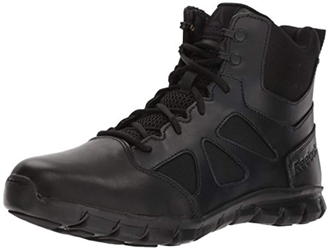 Reebok. Men s Black Sublite Cushion Tactical Rb8605 Military   Tactical Boot 08098e0ed
