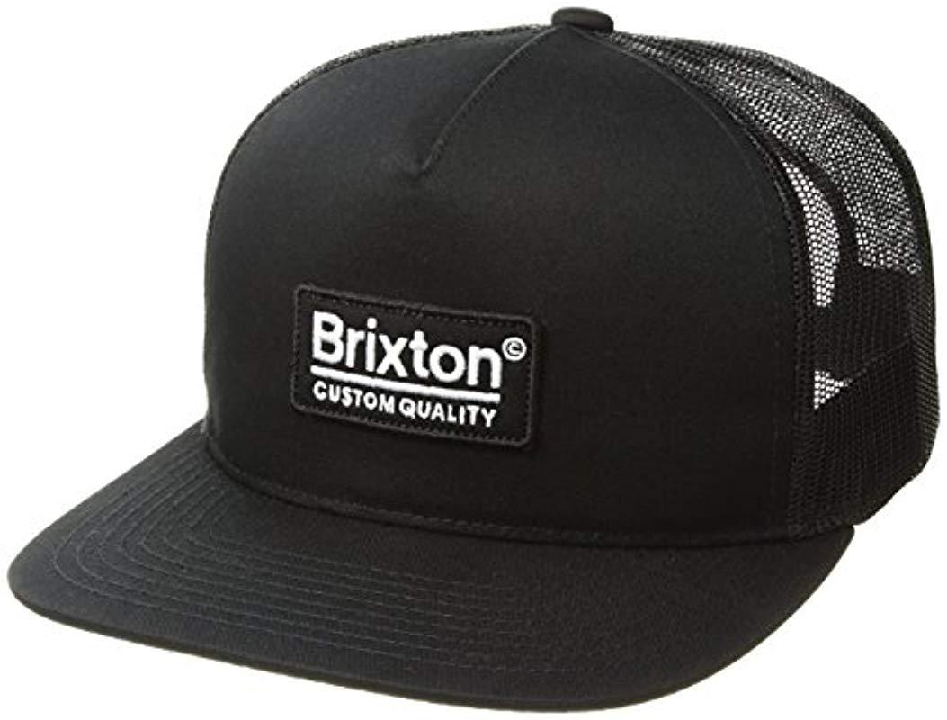 352a9badff7 Brixton - Black Palmer Medium Profile Adjustable Mesh Hat for Men - Lyst.  View fullscreen