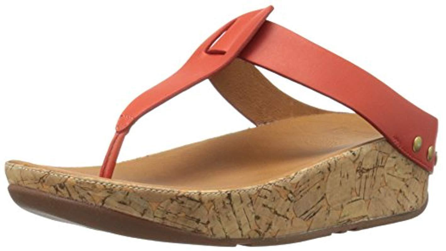 54e4733fa1aa Lyst - Fitflop Ibiza Cork Leather Toe-thong Sandals Flip Flop