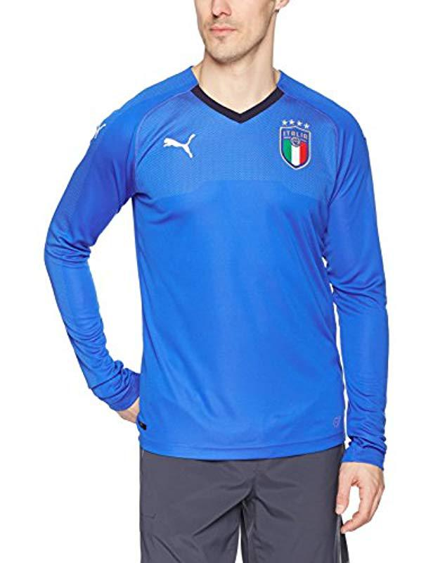 543bde1b8 Lyst - PUMA Figc Italia Shirt Replica Short Sleeve in Blue for Men ...