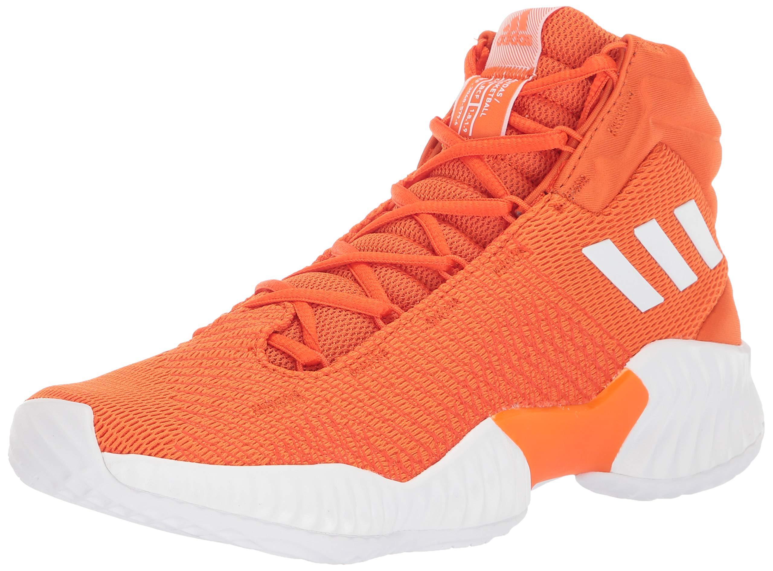 orange and white basketball shoes