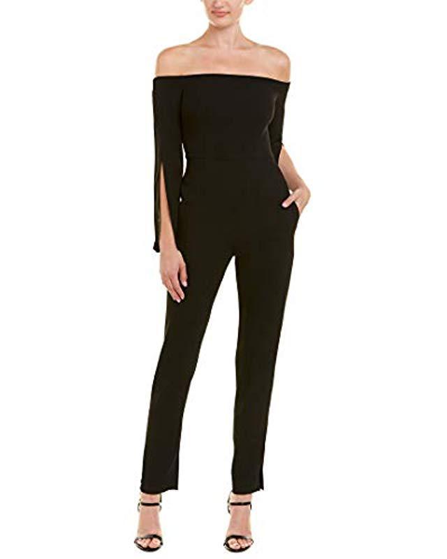 68f6c20d3ac Lyst - BCBGMAXAZRIA Beatrice Off-the-shoulder Jumpsuit in Black ...