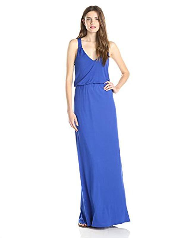 3a6e8be7499 Lyst - Lark   Ro Sleeveless Racerback Knit Maxi Dress in Blue - Save 17%