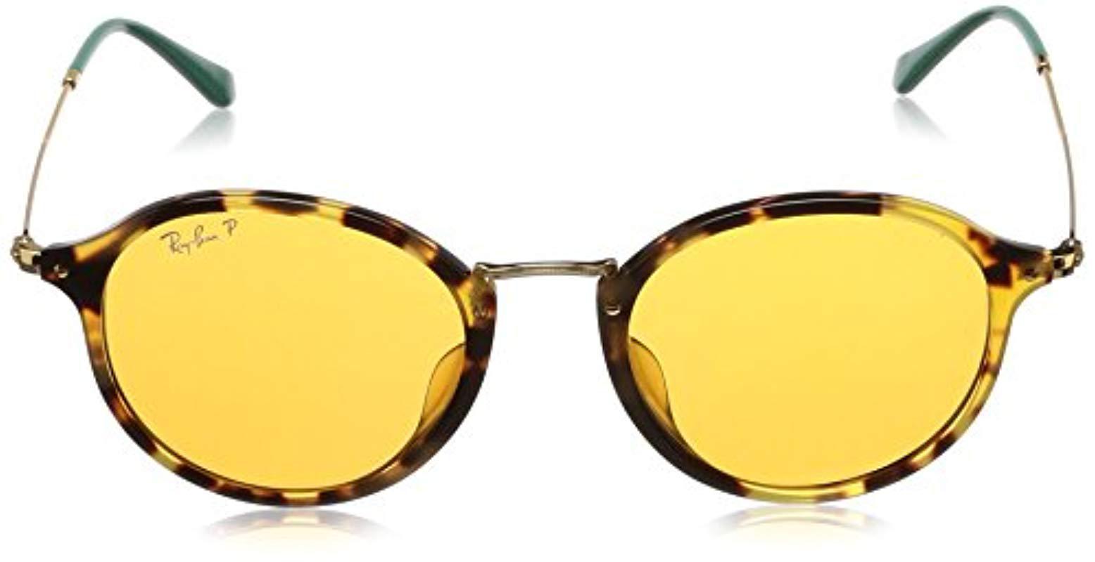 950a444f98 Lyst - Ray-Ban 0rb2447f Polarized Iridium Round Sunglasses