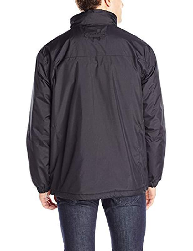 6aa70f8215ac2 Lyst - Izod Ripstop Midweight Jacket With Polar Fleece Lining in Black for  Men