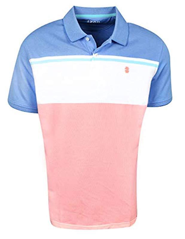 f2df1f66 Lyst - Izod Advantage Performance Stripe Polo in Pink for Men