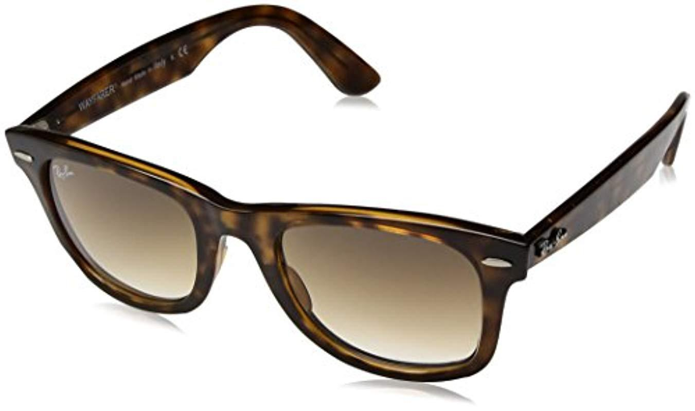 620afd0dc3 Lyst - Ray-Ban Rb4340 Wayfarer Sunglasses in Brown - Save ...