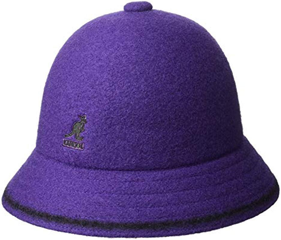 Lyst - Kangol Stripe Casual Bucket Hat in Purple for Men 4e1531734d2