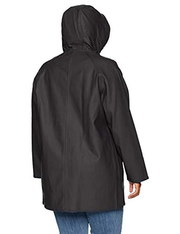 6c2ca1592d1 Lyst - Levi s Size Plus Rubberized Rain Jacket in Black - Save 22%