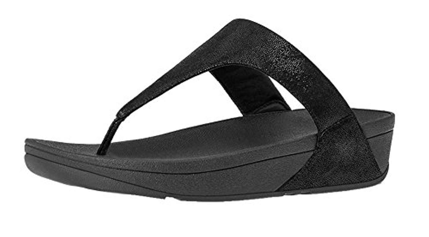 14426666d94fc Lyst - Fitflop Shimmy Suede Toe-post Sandals in Black - Save 29%