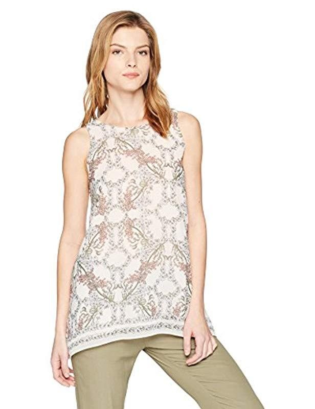 54d1bbb50301 Lyst - Max Studio Printed Trapeze Top in Pink