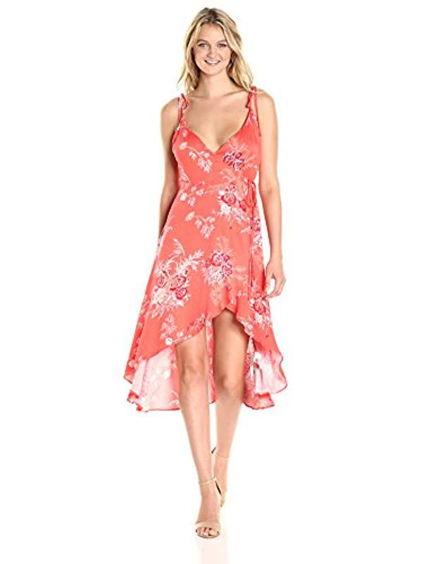 1af890a1db15e Lyst - MINKPINK Hot Springs Printed Wrap Dress in Red