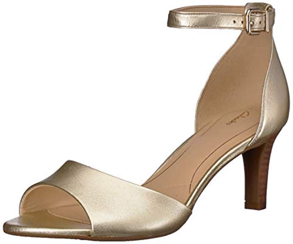 008e47dfcce765 Lyst - Clarks Laureti Grace Heeled Sandal in Metallic