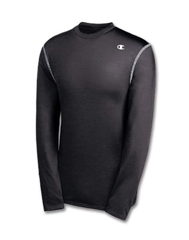3439e89f052a Lyst - Champion Double Dry Long Sleeve Compression Shirt in Gray for Men