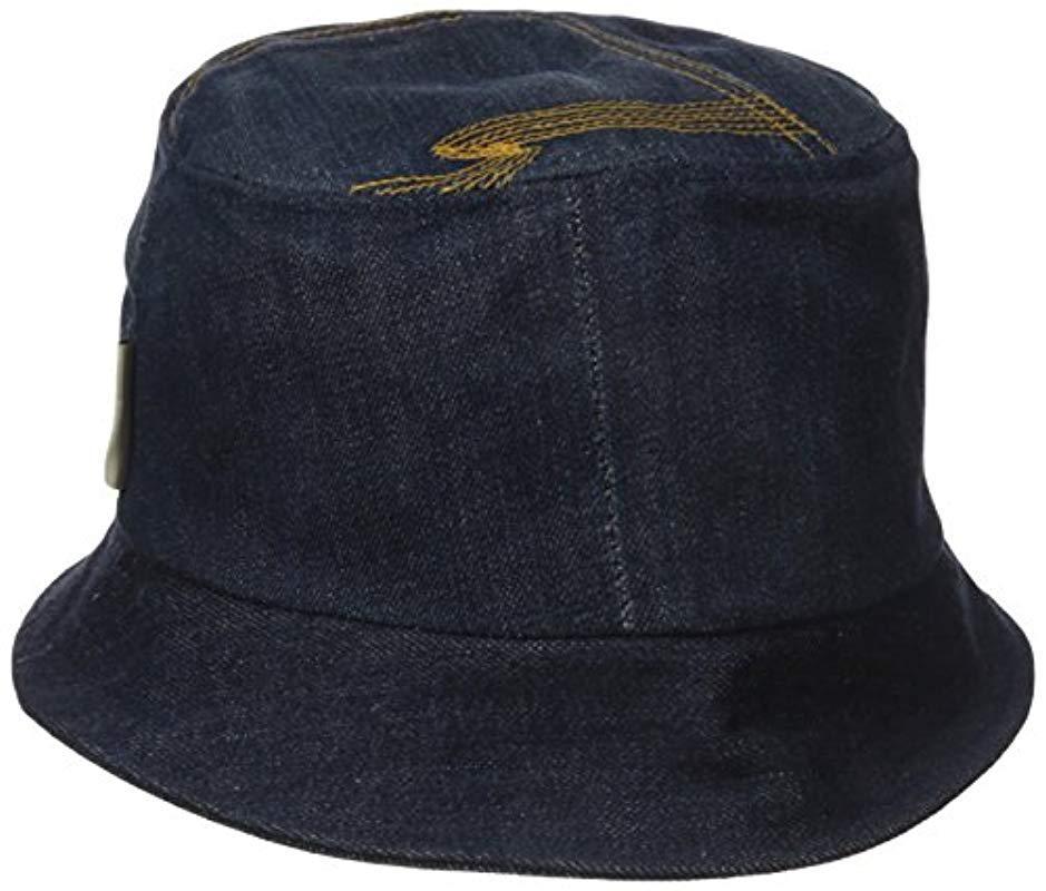 17068dc4f2b Lyst - Nudie Jeans Mathsson Bucket Hat Denim in Blue for Men