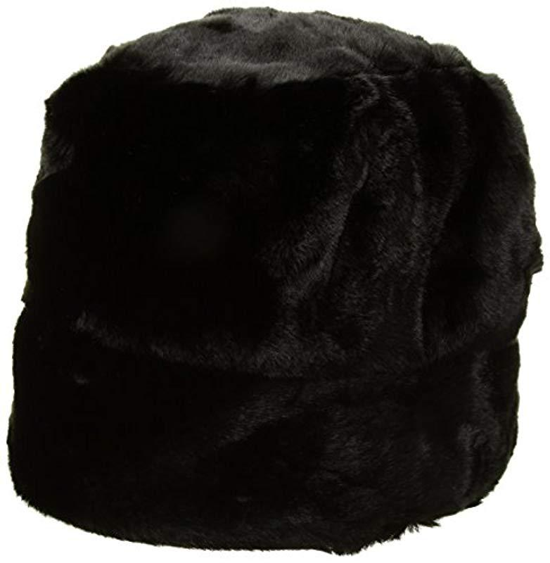 4a030801c74f72 Lyst - Nine West Faux Fur Cloche Hat in Black