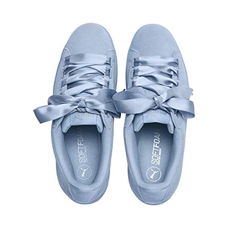 PUMA Satin Vikky Ribbon Sneaker in