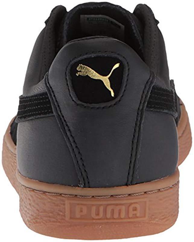 01dbf86c5260 Lyst - PUMA Basket Classic Gum Deluxe Sneaker in Black for Men