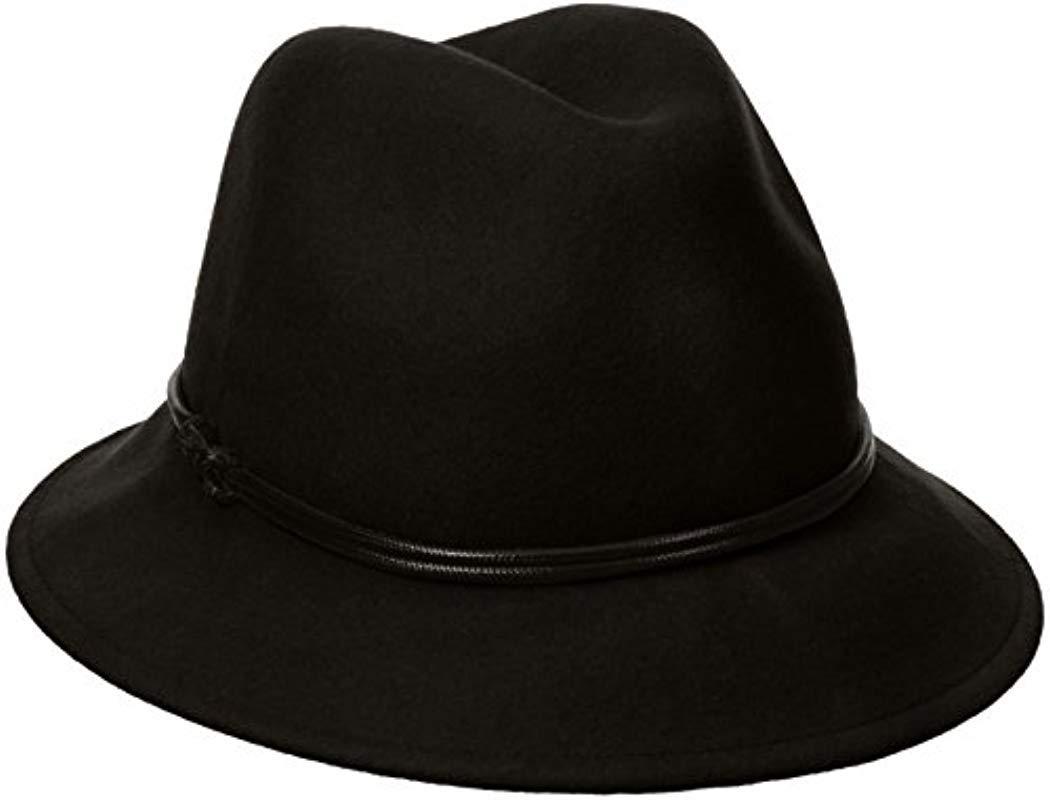 2a41127738b29 Lyst - Goorin Bros Sofia Wool Felt Fedora Hat in Black
