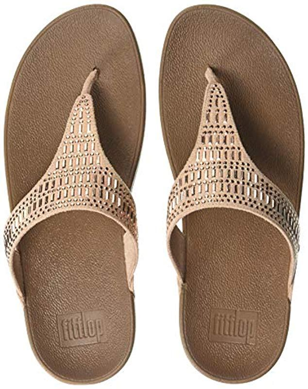 e023ca492dd53 Lyst - Fitflop Incastone Toe-thong Sandals Flip-flop in Natural