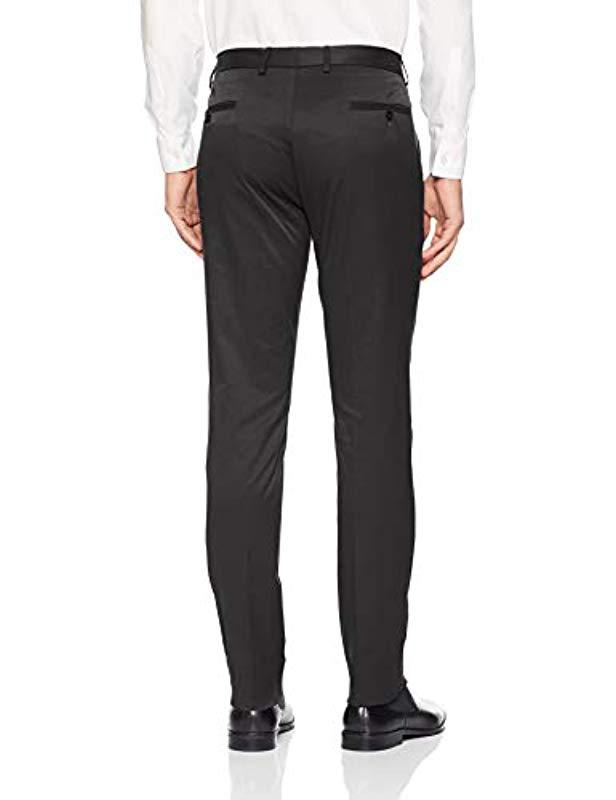 TAHARI Mens 4-Way Stretch Cotton Tech Flat Front