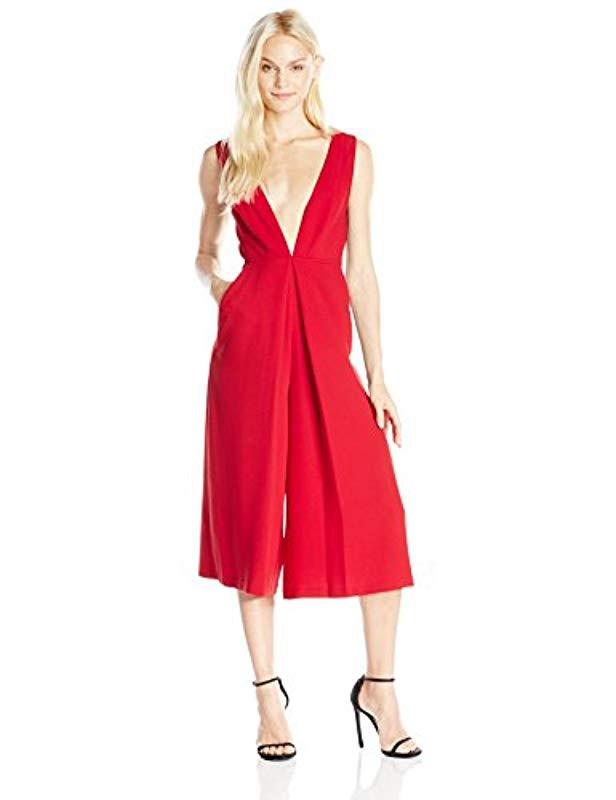 5adc4c140866 Lyst - Bcbgeneration Culotte Jumpsuit in Red - Save 6.060606060606062%
