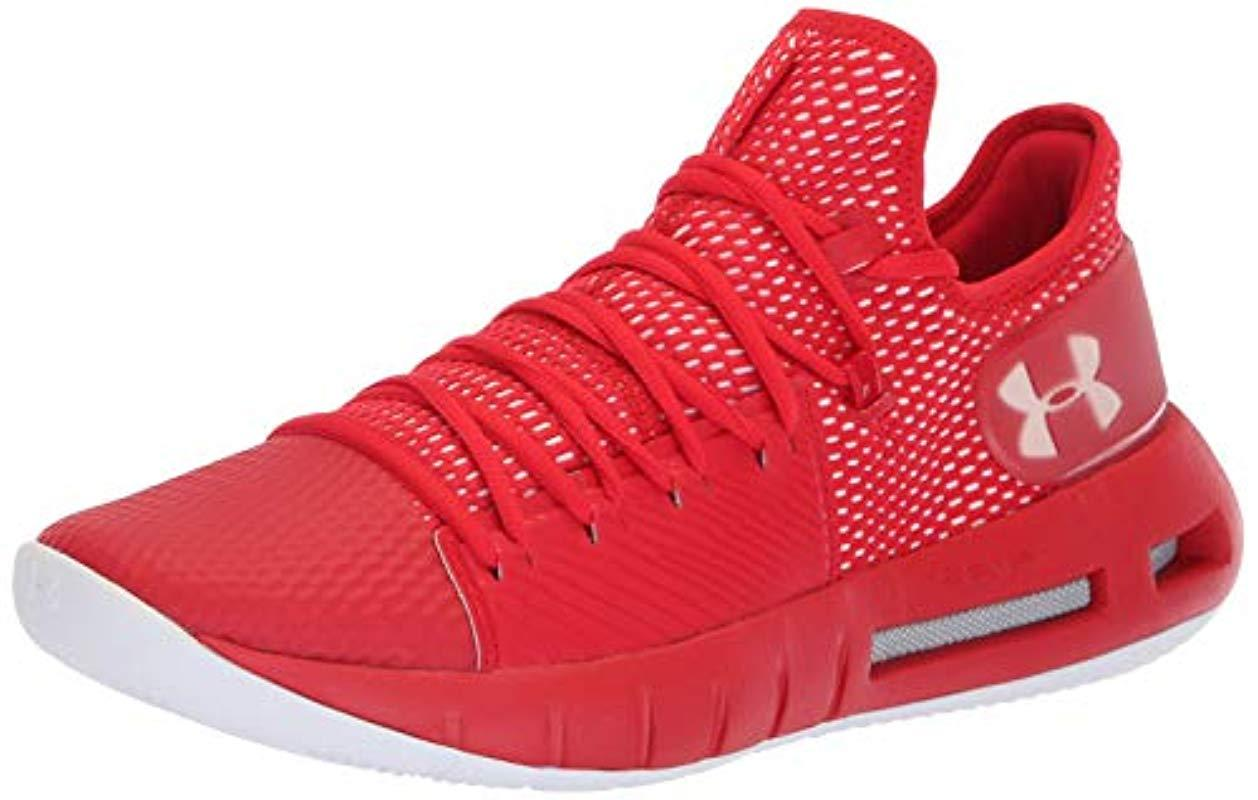 b3db2714b15 Lyst - Under Armour Hovr Havoc Low Basketball Shoe in Red for Men