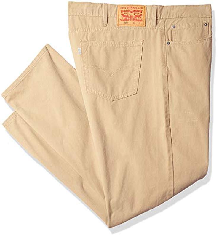 e5f5472825b Lyst - Levi's Tall Big & Tall 502 Regular Taper Pant in Natural for Men