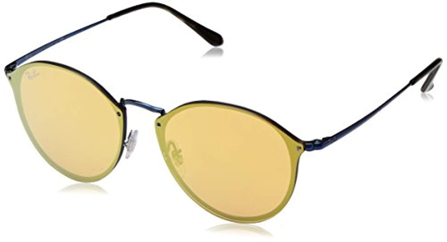 608d61b2ed Lyst - Ray-Ban Unisex Rb3574n Round Sunglasses in Blue - Save 9%