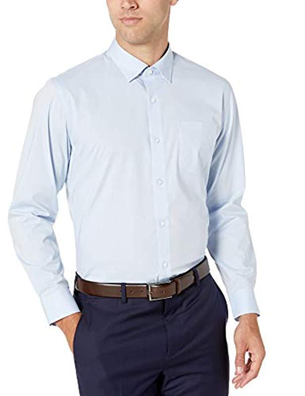 Essentials Regular-Fit Wrinkle-Resistant Stretch Dress Shirt Uomo