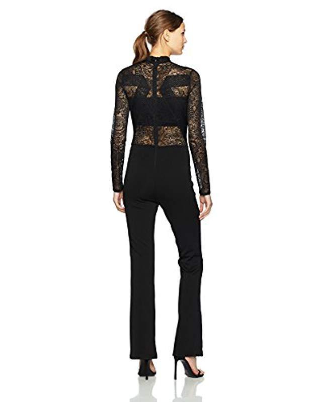 68767b61e7f5 Lyst - BCBGMAXAZRIA Elshane Knit Jumpsuit in Black