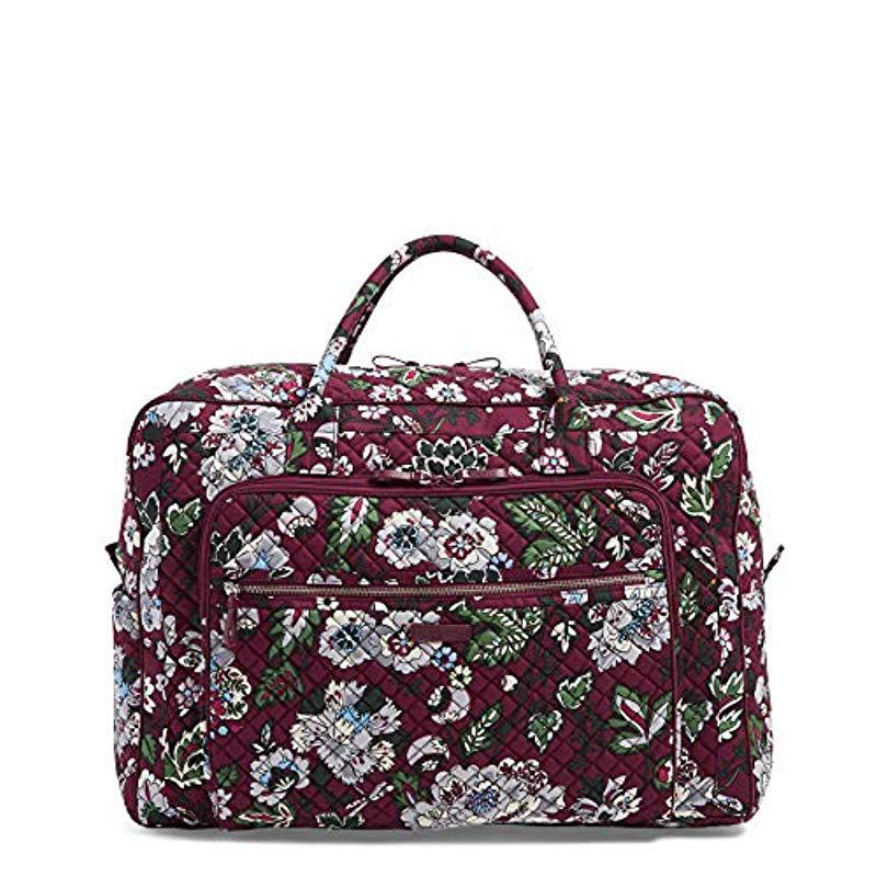 Vera Bradley. Women s Purple Iconic Grand Weekender Travel Bag c7f35511fb906