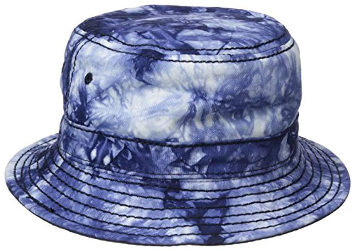 True Religion - Blue Reversible Marble-dye Bucket for Men - Lyst. View  fullscreen b4a7472110b5