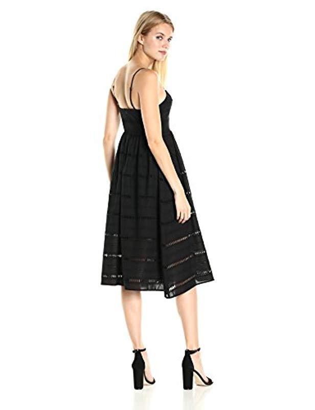 f3a9b86696 Lyst - Cynthia Rowley White Cotton Eyelet Party Dress in Black