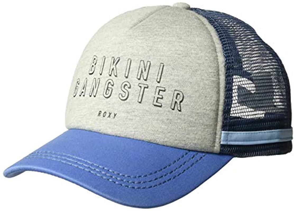 d9fce12b Lyst - Roxy Dig This Trucker Hat in Blue - Save 17%