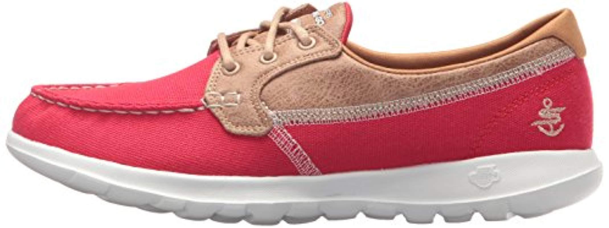 Go Walk Lite-15430 Boat Shoe in Red