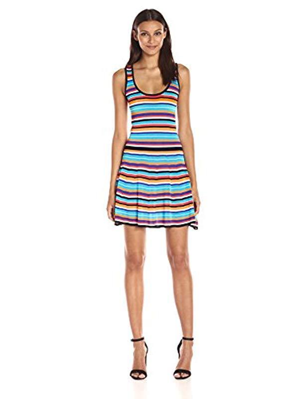 9dd94d447c251 Lyst - Trina Turk Trina Kaine Striped Sweater Dress in Blue