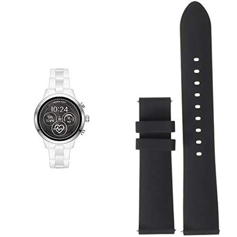 a4941dc1f739 Lyst - Michael Kors Access Runway Touchscreen Watch With Stainless ...