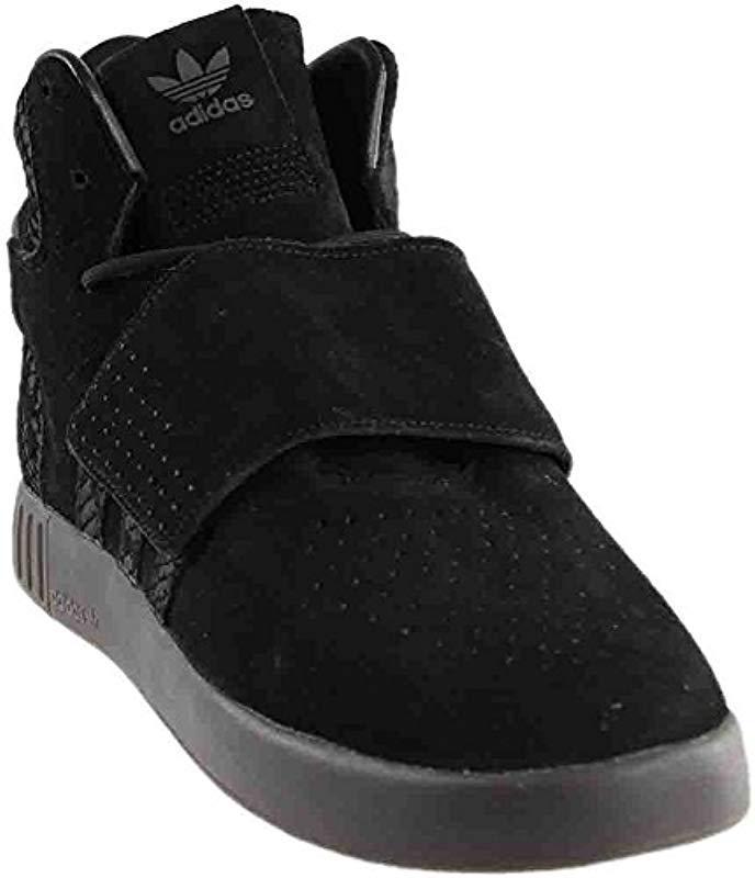 Lyst - adidas Originals Tubular Invader Strap Shoes in Black 1a4c7dbe7