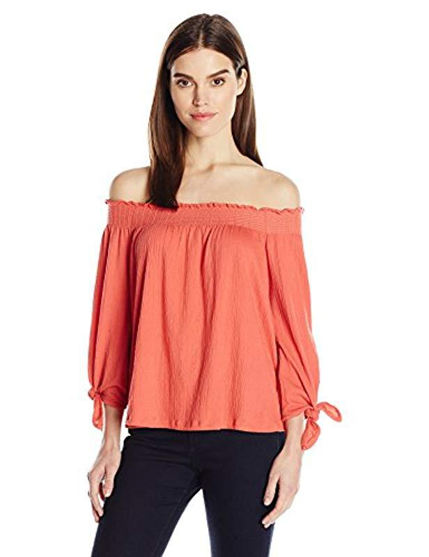 d4029aea35285 Lyst - Jessica Simpson Plus Size Marlena Off The Shoulder Top - Save 76%