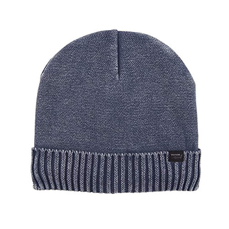 346c9f2ef97fe1 Lyst - Levi's Warm Winter Knit Skullie Beanie in Blue for Men