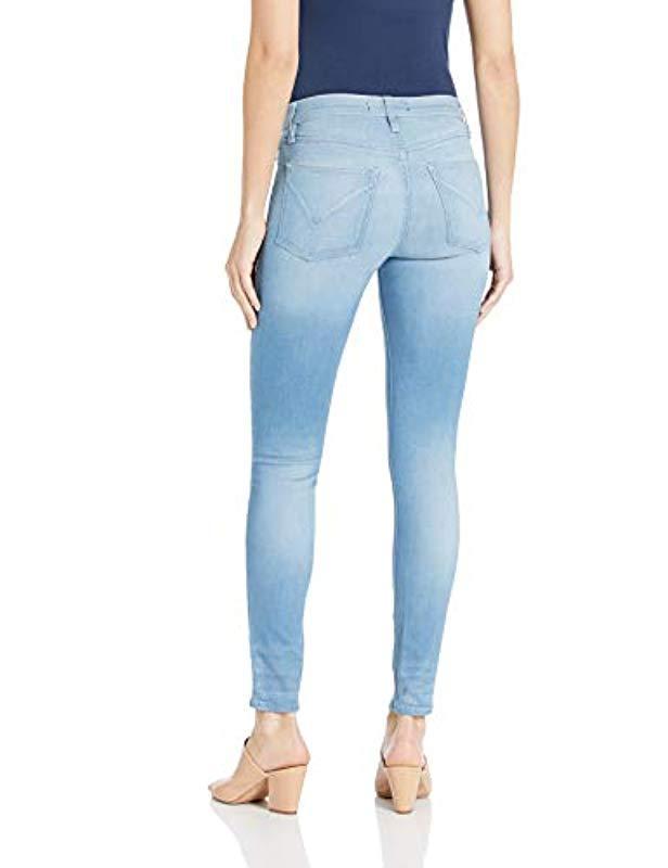 66522549d62 Lyst - Hudson Jeans Nico Midrise Super Skinny Ankle 5 Pocket Jean in Blue