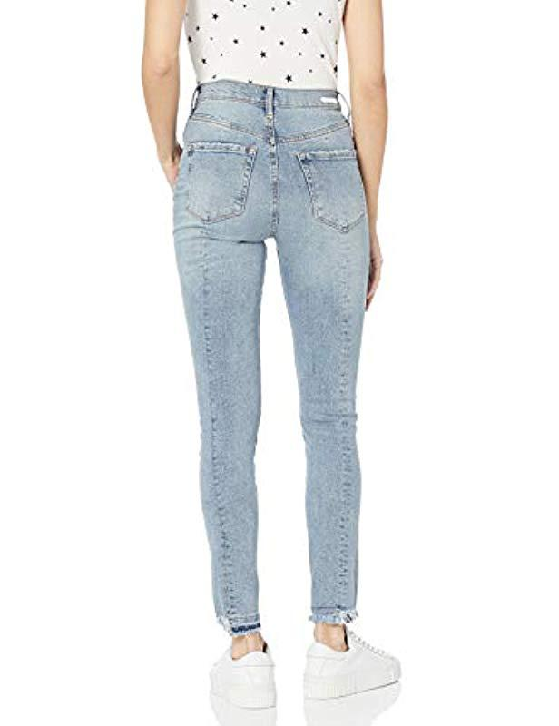 5d27e4eb662 Jessica Simpson - Blue Infinite High Rise Slim Straight Leg Jean - Lyst.  View fullscreen